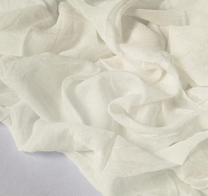 Woal kresz kremowy ecru 280 cm tkanina kreszowana na firany