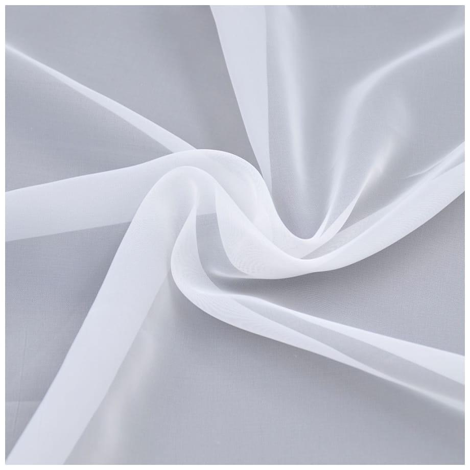 Woal gładki biały 300 cm tkanina woalowa